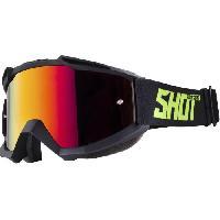 Lunettes De Conduite - Masque SHOT Lunettes Iris Noir Neon Jaune Mat - Shot Race Gear