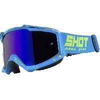 Lunettes De Conduite - Masque SHOT Lunettes Iris Scratch Bleu Neon Jaune - Shot Race Gear