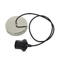 Lustre - Suspension Cordeliere cable textile TRISS E27 60W alu brillant