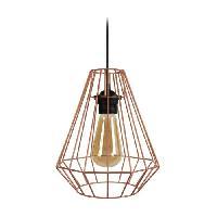 Lustre - Suspension DIAMOND Suspensions filaire en metal - D 20 x H 80 cm - Cuivre - Ampoule LED comprise - E27 40W