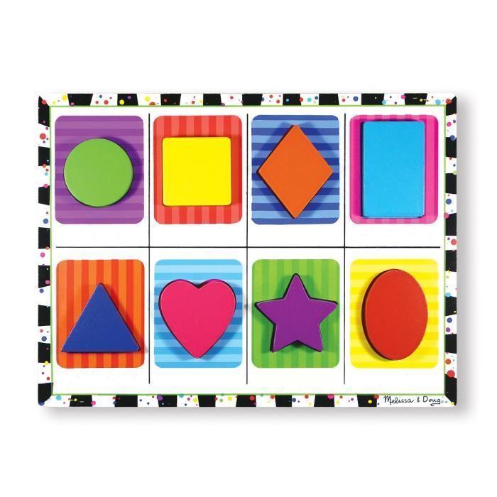 MELISSA-et-DOUG-Puzzle-a-Grosses-Pieces-En-Bois-Formes-Melissa-And-Doug miniature 2