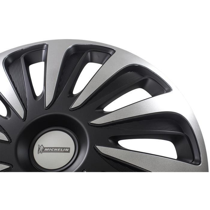 MICHELIN-Enjoliveur-17-NVS-3D-par-4-en-boite-Noir miniature 8