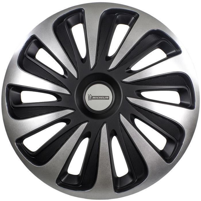 MICHELIN-Enjoliveur-17-NVS-3D-par-4-en-boite-Noir miniature 5