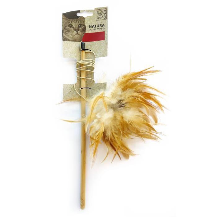 MPETS-Baguette-de-plumes-Natura-Jouet-pour-chat-35-5cm-Couleur-mixte-M-Pet