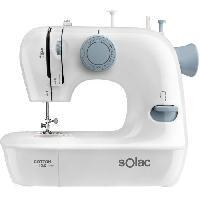 Machine A Coudre SOLAC COTTON 12.0-SW8220 Machine a coudre - 7.2 W - 2 vitesses - Blanc