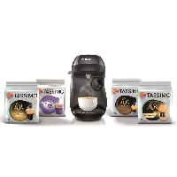 Machine A Expresso BOSCH TAS1002C3 Tassimo Happy + 4 packs de T-Discs - Noir + 10? de reduction sur les T-discs