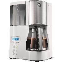 Machine A Expresso MELITTA 100801 Cafetiere filtre programmable Optima Timer - Blanc