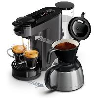 Machine A Expresso PHILIPS SENSEO Switch HD6591-21 Machine a cafe dosette ou filtre - Verseuse isotherme - 1 L - Gris