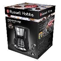 Machine A Expresso RUSSELLHOB Cafetiere filtre Adventure - 24010-56 - 1.25 L - Acier brosse-noir - Russell Hobbs