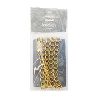 Maille - Chaine - Bracelet Pampille Chaine anneau dore - 1 m