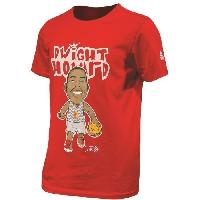 Maillot - Debardeur - T-shirt - Polo De Basket-ball PEAK T-shirt de Basket Dwight Howard - Enfant - Rouge - 12 ans