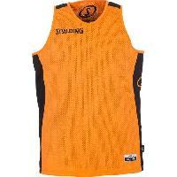 Maillot - Debardeur - T-shirt - Polo De Basket-ball SPALDING Maillot de basket Homme - Réversible Noir / Orange - M