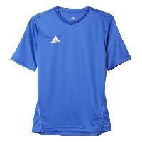 Maillot - Debardeur - T-shirt - Polo De Football ADIDAS COREF TRG JS Y Maillot de foot junior - Bleu - 116 cm - Adidas Performance