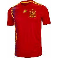 Maillot - Debardeur - T-shirt - Polo De Football ADIDAS Maillot de Football Jersey FEF Espagne - Homme - Rouge - M - Adidas Performance