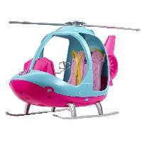 Maison - Accessoire Maison Poupee BARBIE - Barbie Hélicoptere - Véhicule de Poupée - Hélicoptere Rose & Bleu - Peut contenir 2 Poupées Barbie - Mattel