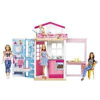 Maison - Accessoire Maison Poupee BARBIE - Barbie & Sa Maison - 1 poupée Incluse - Mattel