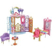 Maison - Accessoire Maison Poupee BARBIE - Château Arc-En-Ciel - Transportable - Mattel