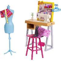 Maison - Accessoire Maison Poupee BARBIE - Coffret Atelier de Mode avec accessoires de création - Accessoires Poupée - Mattel