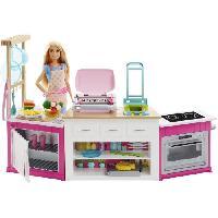 Maison - Accessoire Maison Poupee BARBIE - Coffret Cuisine a Modeler - Sonore et Lumineux - Mattel