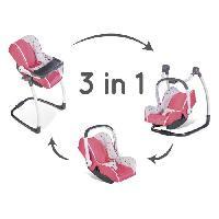 Maison - Accessoire Maison Poupee SMOBY Bébé Confort - Siege + Chaise Haute 3 en 1