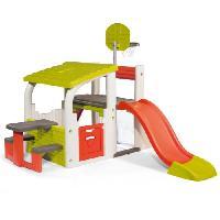 Maison De Jeux Exterieure - Maisonnette SMOBY Fun Center- Toboggan Basket Foot Escalade