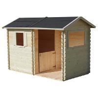 Maison De Jeux Exterieure - Maisonnette SOULET Maisonnette Lison + preau - Cabane enfant en bois