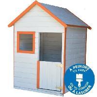 Maison De Jeux Exterieure - Maisonnette TRIGANO Maison pour enfant EMY - En bois - A Peindre Ou Lasurer - 1.02x1.15x1.56 m