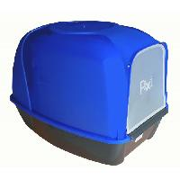 Maison De Toilette - Filtre A Charbon - Tapis Exterieur AIME Maison de toilette arrondie Kroki - 53 x 41 x 27.5 cm - Pour chat