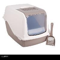 Maison De Toilette - Filtre A Charbon - Tapis Exterieur Litiere pour chat fermee - Taupe - Accessoires pour animaux