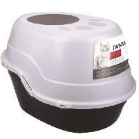 Maison De Toilette - Filtre A Charbon - Tapis Exterieur MPETS Maison de toilette Tanta - 63x49x42 cm - Noir et Blanc - Pour chat