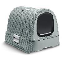 Maison De Toilette - Filtre A Charbon - Tapis Exterieur Maison de toilette - Bleu gris - Pour chat