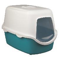Maison De Toilette - Filtre A Charbon - Tapis Exterieur TRIXIE Bac a litiere Vico - Aigue-marine - Pour chat