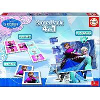 Mallette - Coffret Multi-jeux LA REINE DES NEIGES Superpack Jeux éducatifs - Educa