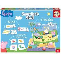 Mallette - Coffret Multi-jeux PEPPA PIG Superpack Jeux educatifs