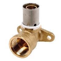 Manchon - Raccord - Coude DIPRA Applique a sertir PER - Diametre 12 - F15 / 21