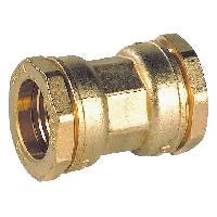 Manchon - Raccord - Coude Raccord laiton manchon egal - Diametre 25