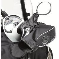 Manchon - Tablier Et Jupe Pour 2 Roues Manchons Scooter ou Moto R334 Noir