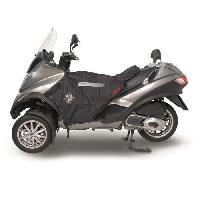 Manchon - Tablier Et Jupe Pour 2 Roues Surtablier Scooter ou Moto Adaptable R063 Noir