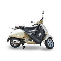 Manchon - Tablier Et Jupe Pour 2 Roues Surtablier Scooter ou Moto Adaptable R154 Noir