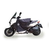 Manchon - Tablier Et Jupe Pour 2 Roues Surtablier Scooter ou Moto Adaptable R167 Noir