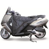 Manchon - Tablier Et Jupe Pour 2 Roues Surtablier Scooter ou Moto Adaptable R171 Noir