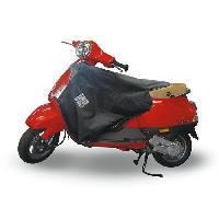 Manchon - Tablier Et Jupe Pour 2 Roues TUCANO URBANO Surtablier Scooter ou Moto Adaptable R153 Noir