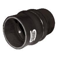 Manchons Raccord Flex Silicone - D70mm - Long 100mm - Noir