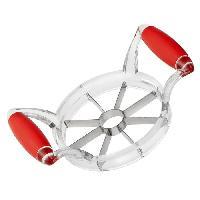 Mandoline - Eminceur - Coupe-aliment TEFAL FRESH KITCHEN Coupe-pomme K0611414 25x12x5cm transparent et orange