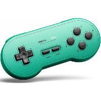 Manette Console Manette Gamepad bluetooth verte 8Bitdo SN30 GP pour Switch