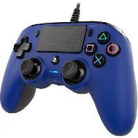 Manette Console Manette Nacon filaire compact pour PS4 - Bleue