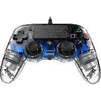 Manette Console Manette Nacon lumineuse pour PS4 - Translucide Bleue