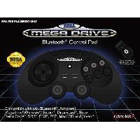 Manette Console Manette filaire noire Retrobit SEGA Mega Drive Connexion d'origine