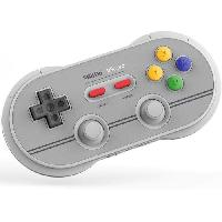 Manette Jeux Video Manette Gamepad bluetooth grise 8Bitdo N30 Pro2 pour Switch - Just For Games