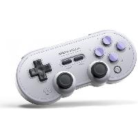 Manette Jeux Video Manette Gamepad bluetooth grise 8Bitdo SN30 Pro pour Switch - Just For Games